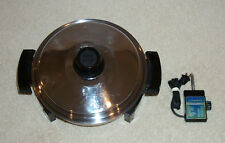 Lustre Craft Oil Core Waterless Electric Skillet Frying Pan Great Condition USA