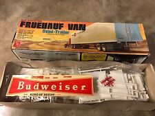1/25 AMT T507 Dry Van 1 Budweiser Decal No Directions Kit Sold As Is No Return