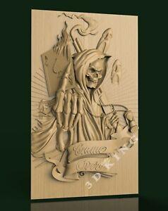 10 Pcs STL 3D Models DEAD & SKULL THEME for CNC Router 3D Print Engraver Carving