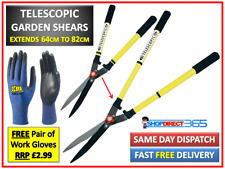 More details for telescopic garden shears hedge scissors bush tree trimming pruning cutting #3463