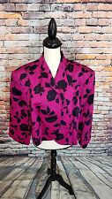 NWT $198 Tahari Arthur S Levine Pink Floral Bolero Blazer Jacket PLUS Sz 24W NEW