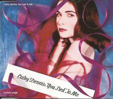 CATHY DENNIS you Lied to me 5TRX 4 RARE MIXES Europe CD single USA seler SEALD