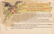 C1279) SOCIETA' DI PREVIDENZA FRA UFFICIALI DEL REGIO ESERCITO E MARINA. VG.