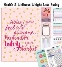 DIARY, WEIGHT LOSS BUDDY, MOTIVATIONAL TRACKER, SLIMMING, HEALTH & WELLNESS A5