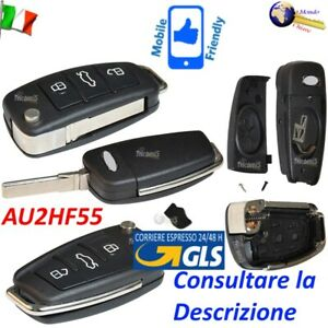 CHIAVE Telecomando GUSCIO AU2HF55 LAMA FLIP 3 TASTI per AUDI A3 A4 A5 A6 A8 TT Q