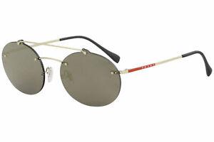Prada Linea Rossa Men's SPS56T SPS/56T ZVN/4L0 Pale Gold Oval Sunglasses 55mm