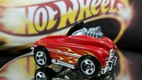 Hot Wheels Pedal Driver Red Version Side Flames BLack Interior Racing Car Nice