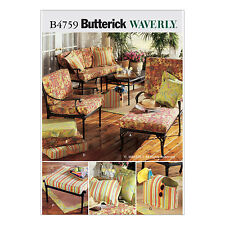 Butterick 4759 Sewing Pattern to MAKE Outdoor/Conservatory Cushions &Accessories