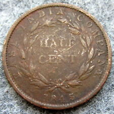 MALAYSIA STRAITS SETTLEMENTS EAST INDIA COMPANY QUEEN VICTORIA 1845 HALF CENT