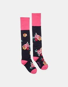 NEW! Joules Nina Trussel Ladies Long Knitted Boot Socks Navy Floral