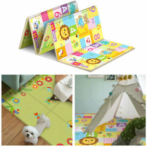 Reversible Thickening Children Floor Baby Play Mat Foldable Baby Crawling Pad