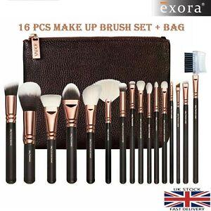 16Pcs Professional Make up Brushes Set Cosmetic Tool Kabuki Makeup+Luxury Bag UK