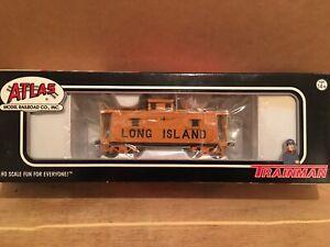 HO Atlas Long Island Railroad Cupola Caboose LIRR #4 BRAND NEW Metal Wheels