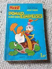 Donald a des idées lumineuses MICKEY PARADE 1055 bis (1971) 1ère série RARE