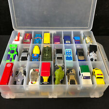 Lot Of 48 Assorted Hot Wheels And Match Box Cars With Case
