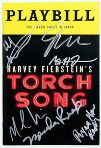 Full Cast Michael Urie, Mercedes Ruehl Signed TORCH SONG 2018 Broadway Playbill