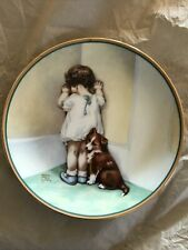 "Bessie Pease Gutmann Numbered Collector Plate ""In Disgrace"" 1st Issue in Series!"