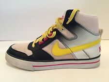 NIKE DELTA FORCE High Top White Black Yellow Pink 386200-171 Size 9