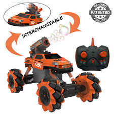 New RC Remote Control Bubble Blaster Gun Car Toy for Kids Rock Crawler Outdoor
