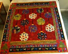 "LAUREL BURCH Handcrafted CHRISTMAS QUILT 62"" x 56"""