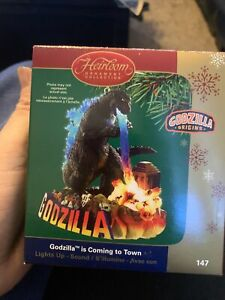 2005 Carlton Cards Heirloom Collection Ornament Godzilla Is Coming To Town CIB