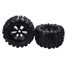 2x 1:8 Scale RC Car Rubber Wheel Tires Tyre for Monster Truck HPI Savage Parts