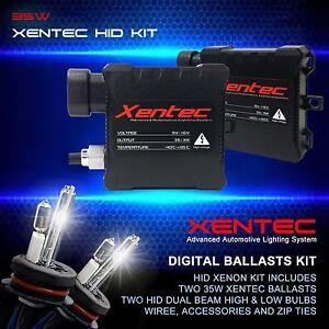 Xentec Halogen High + HID Xenon Lights Dual beam Kit H4 HB2 9003 10000K D Blue