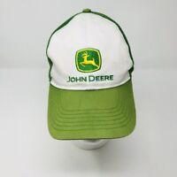 John Deere Tractor Trucker Hat Mesh Snapback Green White