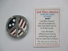 x peace GOD BLESS AMERICA POCKET TOKEN flag patriotic military Pray for ganz
