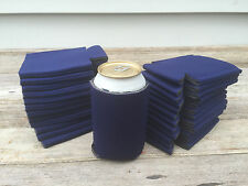 LOT of 25 NAVY BLUE Can Holders Blank Beer Soda Coolers Can Huggies