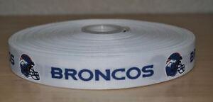 5 Yards of Denver Broncos Grosgrain Ribbon-7/8 inch