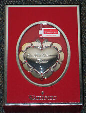 Waterford Silver 2012 *Our First Christmas Together HEART Ornament  NEW/Box sale