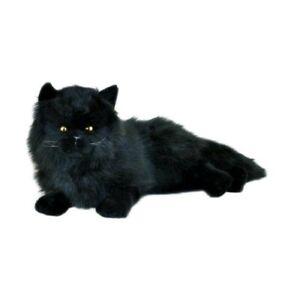 Cat Black Long Haired Plush Stuffed Soft Toy 38cm Onyx by Bocchetta