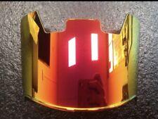 Football Helmet Visor,  Eye Shield , Gold  Brand New !! With Clips Mirror RED