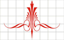 Pinstripe decal vinyl stickers motorcycle car truck tank fender red elegant
