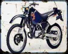 Cagiva 125 W8 A4 Photo Print Motorbike Vintage Aged