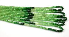 "1 Strand Natural Tsavorite Gemstone Faceted Rondelle Beads 3-4mm 17"" Long Strand"