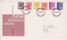 GB ROYAL MAIL FDC FIRST DAY COVER 1976 9p - 20p MACHIN DEFINITIVES WINDSOR PMK