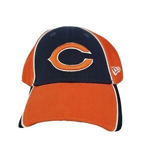 New Era Chicago Bear NFL Baseball Hat Cap Embroidered Adjustable Navy Orange