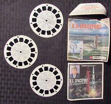 Vintage VIEW-MASTER U.S. Spaceport w/ 3 Reels GD+/VG+ JFK John F Kennedy