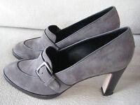 Strenesse Schuhe Pumps Wildleder grau Gr. 40,5 elegant - neuwertig