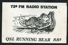 Dated 1985: Illustrated QSL Card: Running Bear from Walkden, Worsley