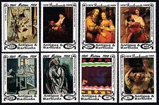More details for antigua & barbuda 1994 barbuda mail paintings rembrandt sg 1536-43 set 8 mnh