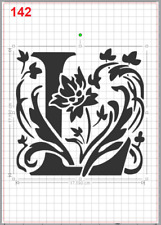 Beautiful Alphabet Letter L Stencil MYLAR A4 sheet strong resuable Craft ArtDeco