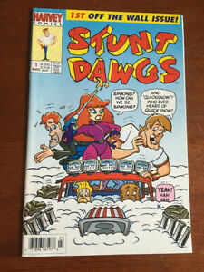 STUNT DAWGS # 1 VF/NM HARVEY COMICS 1993 BASED ON THE CARTOON SHOW