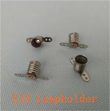 E10 Lampholder Long Leg LED Bulbs Light Base Socket for circuit electrical X100