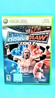 WWE SmackDown vs. Raw 2007 (Microsoft Xbox 360, 2006) *Complete*