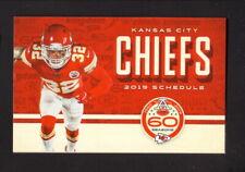 Kansas City Chiefs--Tayrann Mathieu--2019 Pocket Schedule--Bud Light