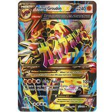 MEGA PRIMAL GROUDON EX 151/160 Ultra Rare Holo Foil Star Pokemon Card FULL ART