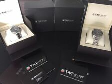 TAG Heuer Carrera Round Stainless Steel Band Wristwatches